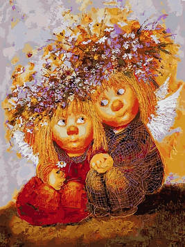Картины по номерам 30×40 см Babylon Венки из полевых цветов Галина Чувиляева (VK 278)