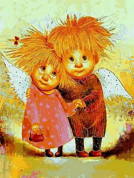 Картины по номерам 30×40 см Babylon Ангелы Заботы Галина Чувиляева (VK 279)