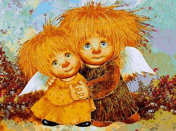 Картины по номерам 30×40 см Babylon Солнечные ангелы Г. Чувиляева (VK 281)