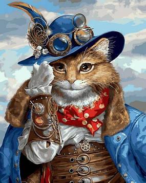 Картины по номерам 40×50 см Babylon Стимпанк кот (VP 1394)