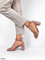 Босоножки/ туфли женские на каблуке с открытым носком в бежевом и черном цветах