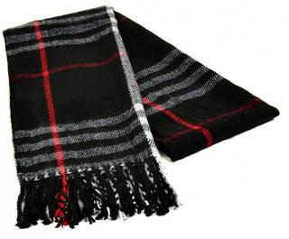 Мужской шарф 190 на 31 см 5014-12 черный