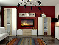 Комплект мебели в гостиную Sokme Герда Дуб Веллингтон / Белый