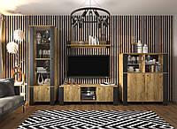 Комплект мебели в гостиную Sokme Олд Вуд Черный / Дуб крафт золотой