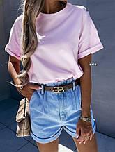 Жіноча кофтинка, турецька двунить, р-р універсальний 42-46 (рожевий)