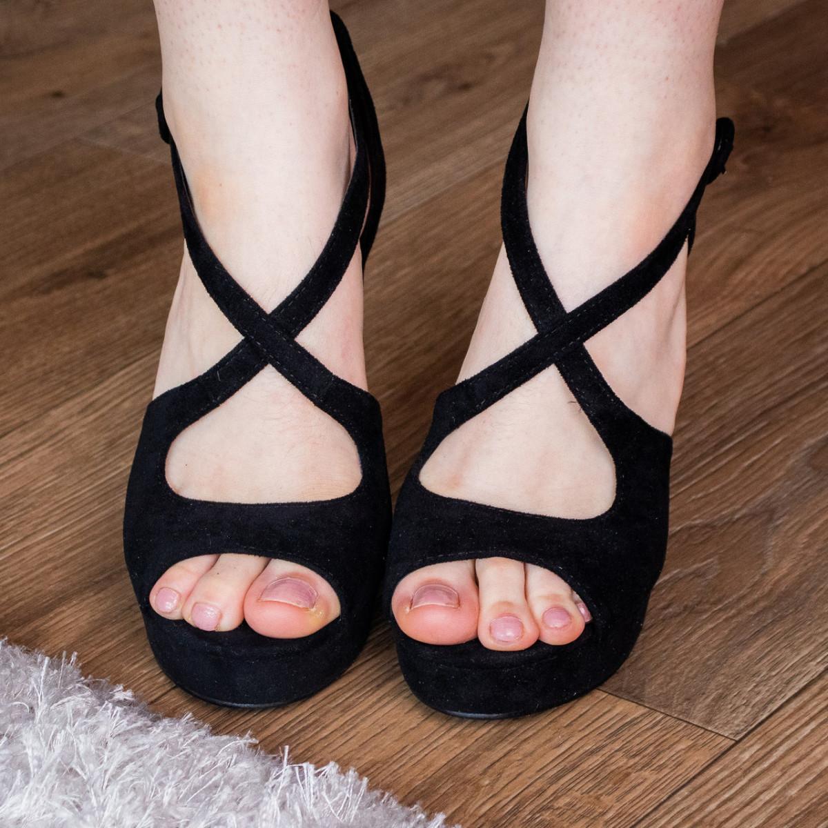 Женские босоножки Fashion Elvis 2879 36 размер 23,5 см Черный 38