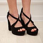 Женские босоножки Fashion Elvis 2879 36 размер 23,5 см Черный 38, фото 2