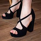 Женские босоножки Fashion Elvis 2879 36 размер 23,5 см Черный 38, фото 3