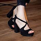 Женские босоножки Fashion Elvis 2879 36 размер 23,5 см Черный 38, фото 5