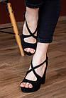 Женские босоножки Fashion Elvis 2879 36 размер 23,5 см Черный 38, фото 6