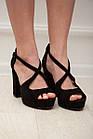 Женские босоножки Fashion Elvis 2879 36 размер 23,5 см Черный 38, фото 7