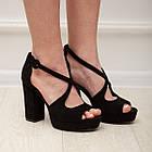 Женские босоножки Fashion Elvis 2879 36 размер 23,5 см Черный 38, фото 9