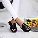 Шлепанцы женские черные натуральная кожа, фото 3