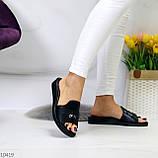 Шлепанцы женские черные натуральная кожа, фото 6