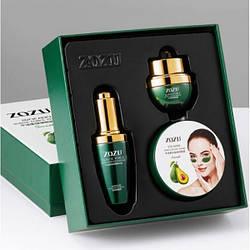 Набір подарунковий для очей ZoZu Elastic Force Avocado Bouncing Eye Care Set of 3 з маслом авокадо, вітамінами