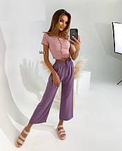 Женские брюки, супер - софт, р-р С-М; Л-ХЛ (виноградный)