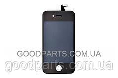 Дисплей с тачскрином и рамкой для телефона Apple iPhone 4 черный (Оригинал)