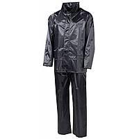 Дождевой костюм чёрный, полиэстер MFH