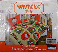 """Детское постельное белье """"Minteks"""". Турция. Ранфорс."""