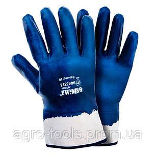 Рукавички трикотажні з нітриловим покриттям (сині краги) 120 пар SIGMA (9443371), фото 2