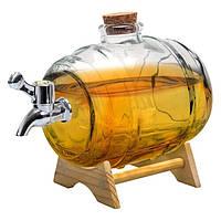 Подарочный графин для виски и вина Бочка Vin Bouquet 1 литр