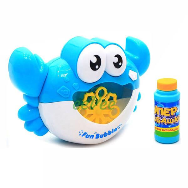 Генератор мильних бульбашок Краб дитячий з банкою мильного розчину Блакитний (58299)