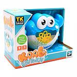 Генератор мильних бульбашок Краб дитячий з банкою мильного розчину Блакитний (58299), фото 2