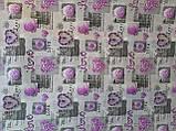 Комплект постельного белья из бязи Голд евроразмер Сиреневые сердечки, фото 2