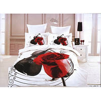 Комплект сатинового постельного белья Arya - 3D