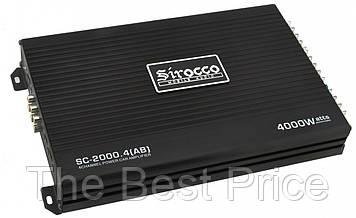 Автомобильный 4-канальный усилитель звука Sirocco SC-2000.4 (AB) 4000W Black