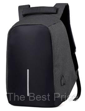 Рюкзак АНТИВОР Bobby 15,6 c защитой от карманников и с USB зарядным устройством Dark Grey