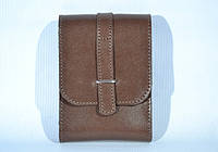 Кожаная сумка на документы, коричневая