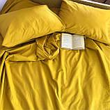 Комплект постільної білизни однотонний Бязь GOLD 100% бавовна Бежевого кольору, фото 4