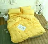 Комплект постільної білизни однотонний Бязь GOLD 100% бавовна Бежевого кольору, фото 7