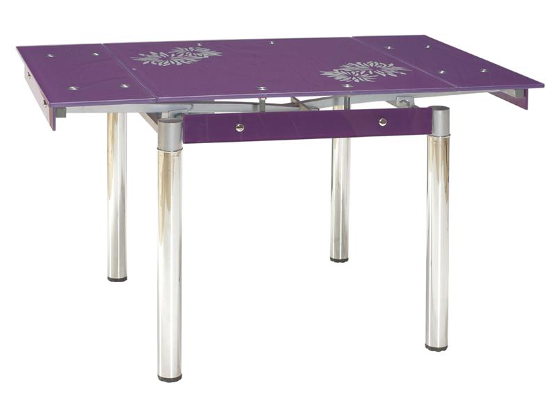 Стол стеклянный раскладной GD-082 (80-131) Фиолетовый