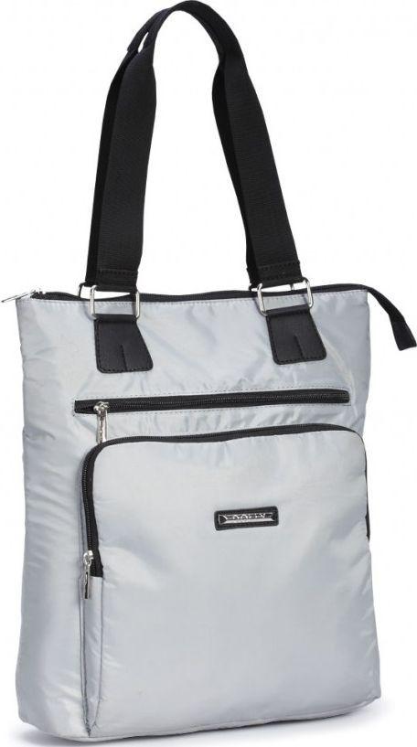 4d6b7b9e43fd Удобная женская сумка из болоньевой ткани Dolly 449 серый - SUPERSUMKA  интернет магазин в Киеве
