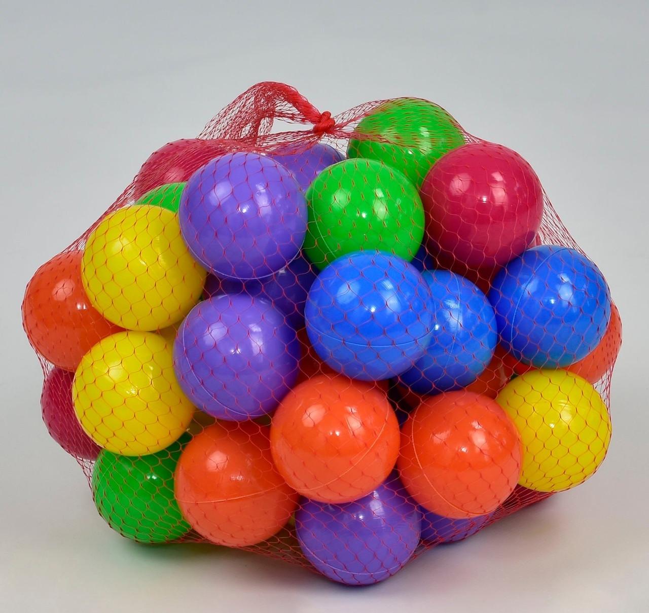 """Кульки малий """"60 мм - м'які 13026 в сітці 50 шт """"M-TOYS"""""""
