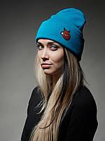Зимняя теплая шапка Urban Planet Foxy  2016 Голубая