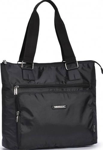 Вместительная женская сумка из болоньевой ткани Dolly (Долли) 450 черная