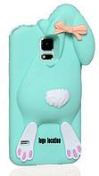 Голубой чехол зайчик Moschino для Samsung S5 , фото 1