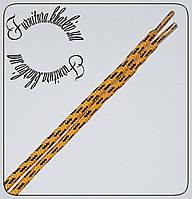 Шнурок толстый черный 120см меланж желтый