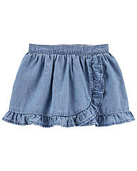 """Спідниця-шорти для дівчинки OshKosh """"Джинсова"""" блакитна"""