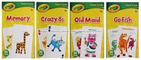 Развивающие и обучающие карточки CRAYOLA Crazy 8s,memory, Card game 36 cards