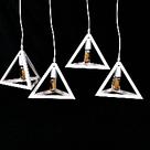 Люстра підвісна в стилі лофт YS-TY001-B/4 WH (4 лампи), фото 2