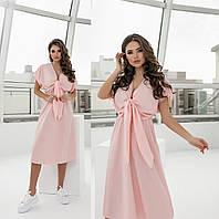 Літнє жіноче плаття пудра з софта (2 кольори) ТК/-61303