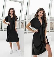 Літнє жіноче плаття чорне з софта (2 кольори) ТК/-61303