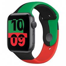 Apple Watch 6 GPS 44mm Space Gray Aluminum Case w. Black Unity Sport B. (MJ6P3)