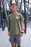 Мужская футболка Nike Jordan Flight (Оливковый)