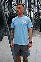 Мужская футболка Nike Jordan Flight (Голубая)
