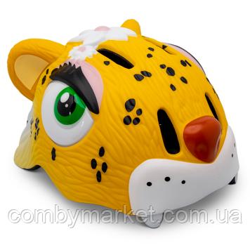 Дитячий захисний шолом Crazy Safety Леопард Жовтий